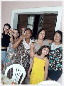 Aline, Gabriela, Dôra, Terezinha, Marta, Beatriz e Márcia